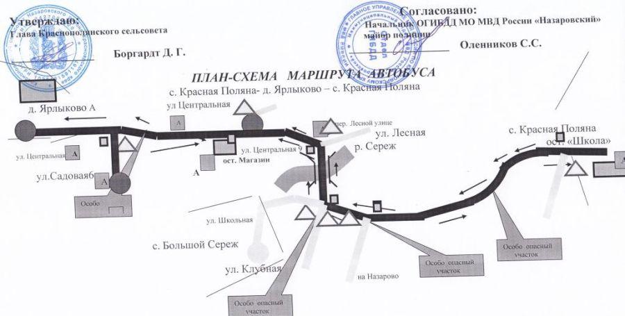 План -схема маршрута автобуса